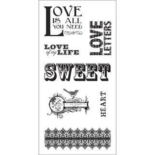 """Fiskars Teresa Collins 3""""X6"""" Sheet Cling Stamps-Music Sheet"""