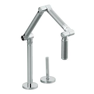 Kohler Karbon Chrome Deck-mount Articulating Kitchen Faucet
