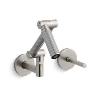 Kohler Karbon Nickel Wall-mount Lavatory Faucet
