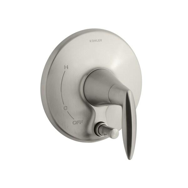 Kohler Alteo Brushed Nickel Valve Trim with Push-button Diverter (Valve not included) 11111516