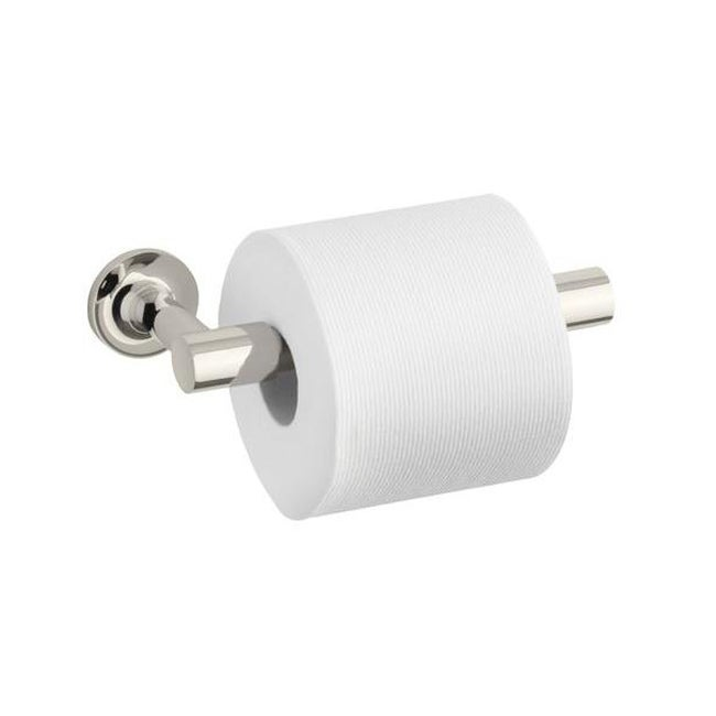 Kohler Purist Polished Nickel Pivoting Toilet Tissue Holder (Polished nickel Dimensions 1.875 inches high x 8.188 inches long x 3.75 inches deep Assembly required )