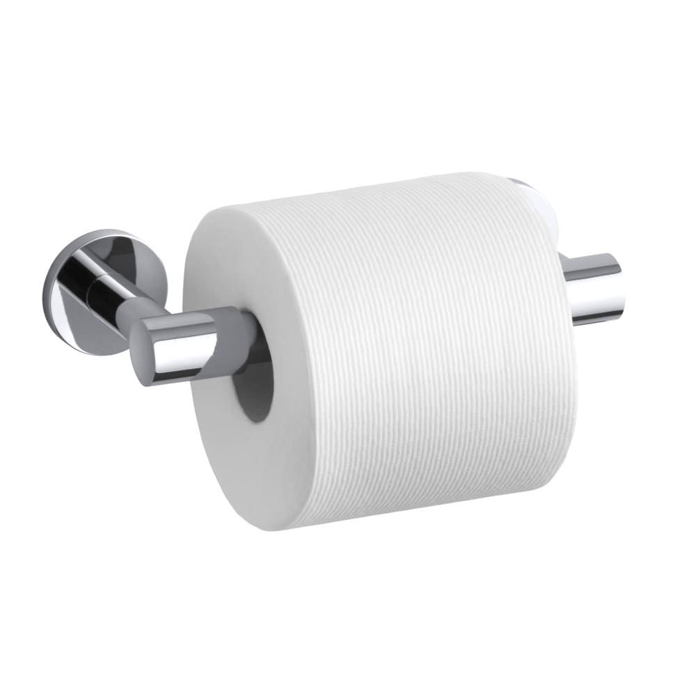 Kohler Stillness Polished Chrome Pivoting Toilet Tissue Holder (Polished chrome Dimensions 1.875 inches high x 8.188 inches long x 3.06 inches deep Assembly required )