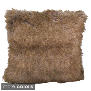 Cloud9 Designs Faux Fur Decorative Down Pillow