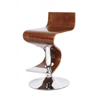 Walnut Adjustable Retro Bar Stool