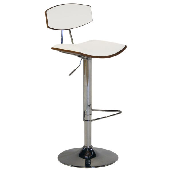 Adjustable White Retro Bar Stool