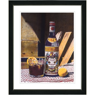 Studio Works Modern 'Martini Rossi' Framed Print