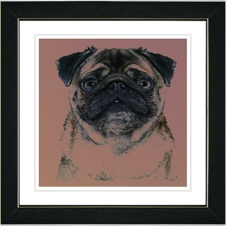 Studio Works Modern 'Pug Dog' Framed Print