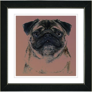 Studio Works Modern 'Pug' Framed Print