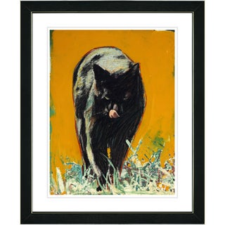 Studio Works Modern 'Cleo the Cat' Framed Print