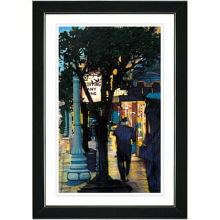 Studio Works Modern 'Evening Walk' Framed Print