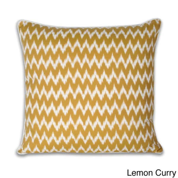 Thro Ian Ikat Faux Linen 20-inch Decorative Pillow