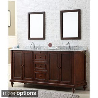 Direct Vanity 70-inch Classic Dark Brown Double Vanity Cabinet