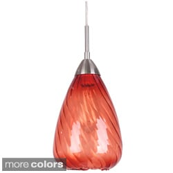 Soak 1-light Satin Nickel Mini-pendant