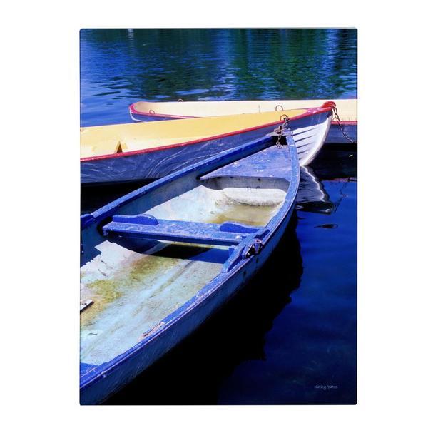 Kathy Yates 'Bois de Boulogne Boats' Canvas Art