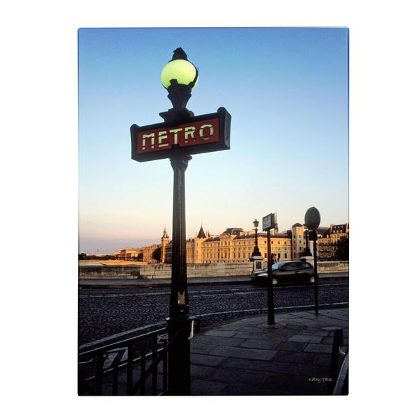 Kathy Yates 'Le Metro at Dusk' Canvas Art