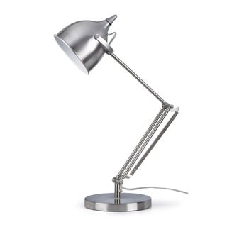 Artiva USA Silverado 27.5-Inch Brushed Stainless Steel Swing Arm Table Lamp