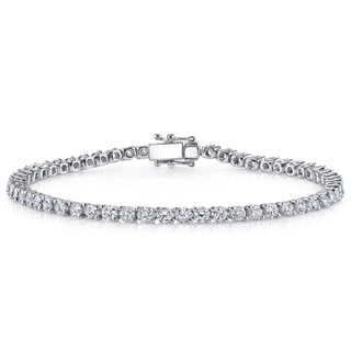 18k White Gold 3ct TDW Diamond Tennis Bracelet (H-I, SI1-SI2)