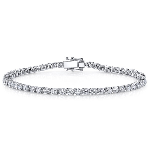 18k White Gold 2ct TDW Diamond Tennis Bracelet (H-I, SI1-SI2)