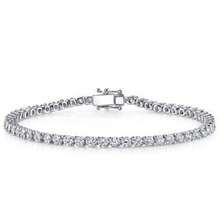 18k White Gold 5ct TDW Diamond Tennis Bracelet (H-I, SI1-SI2)