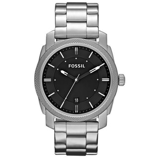 Fossil Men's 'Machine' Black Dial Steel Watch