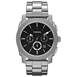 Fossil Men's FS4776 Machine chronograph Round Silvertone Bracelet Watch