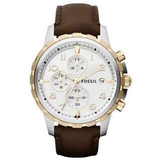 Fossil Men's 'Dean' Chronograph Brown Leather Watch