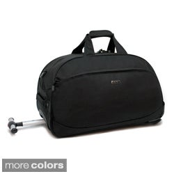 J World 'Christy' Single Handle 20-inch Carry-on Rolling Upright Duffel Bag