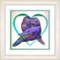 Studio Works Modern 'Love Birds - Purple' Framed Print