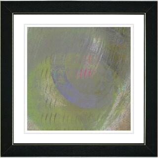 Studio Works Modern 'Moon Shadow - Green' Framed Print