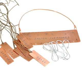 Hand-Stamped Copper Herb Drying Kit