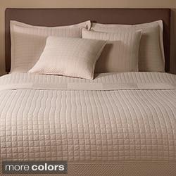 Essex 100-percent Cotton Quilted-square 3-piece Design Quilt Set