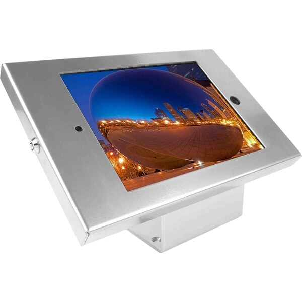 iPad 2/3/4/Air/Air2 Secure Metal Jacket Enclosure with 45? Kiosk Silv 11112262
