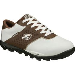 Men's Skechers GOgolf White/Brown