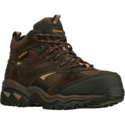 Men's Skechers Work Energy Clan WP Brown