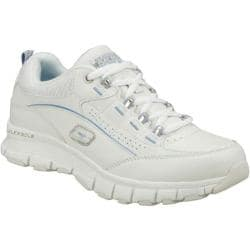 Women's Skechers Work Flex Fit SR Leaper White/Blue