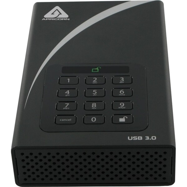 Apricorn Aegis Padlock DT ADT-3PL256-4000 4 TB External Hard Drive