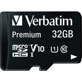 Verbatim 32GB Premium MicroSDHC Memory Card with Adapter, Class 10