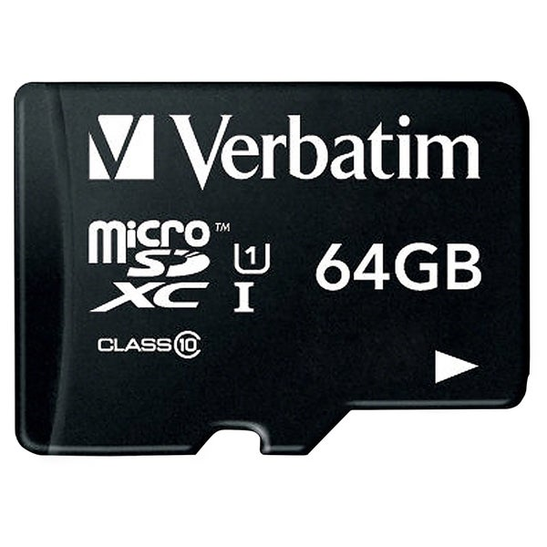 Verbatim 64GB Premium microSDXC Memory Card with Adapter, UHS-I Class