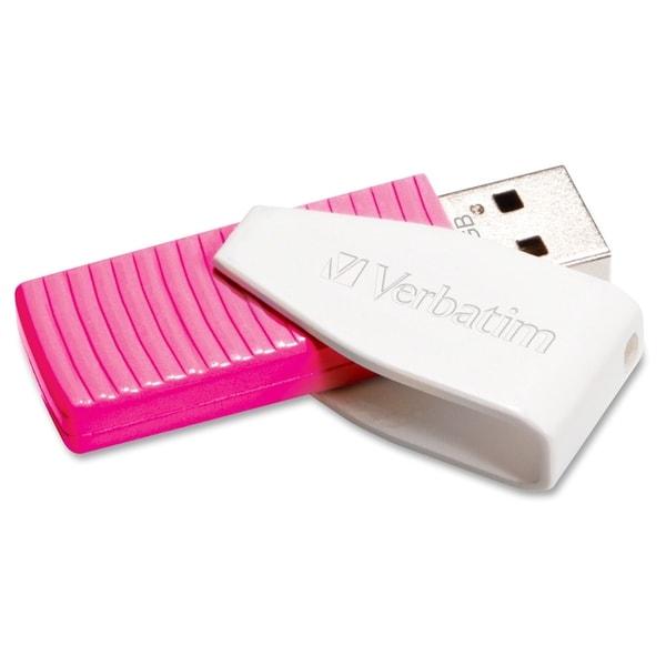 Verbatim 16GB Swivel USB Flash Drive - Hot Pink