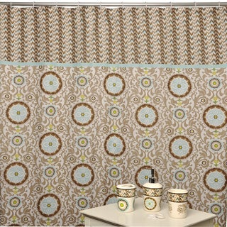 Aqua And Brown Shower Curtains | World Trend House Design Ideas