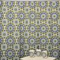 Solar Flare Lime/ Indigo Shower Curtain and Bath Accessory 16-piece Set