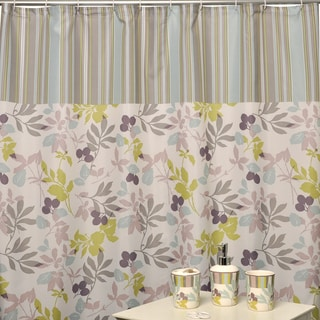 Waverly Wind Stripe Shower Curtain Bath Accessory Set