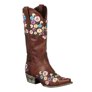 Lane Boots Women's 'Allie' Leather Cowboy Boots