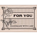 "Hero Arts Mounted Rubber Stamps 3.75""X3.25""-Handmade With Care"