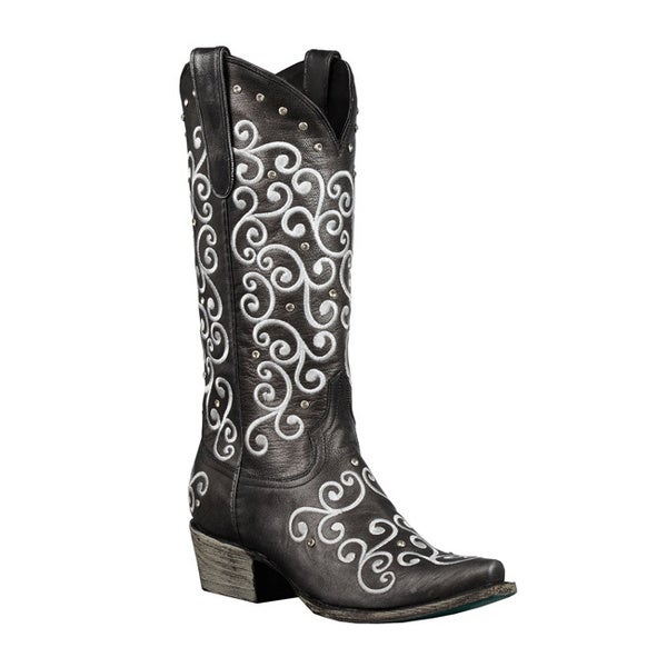 Lane Boots Women's 'Willow' Black Cowboy Boots