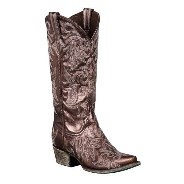 Lane Boots Women's 'Wild Ginger' Metallic-Bronze Cowboy Boots