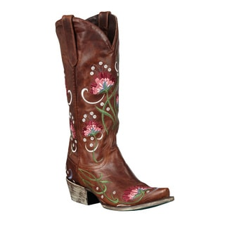 Cara Anne Women's Floral Embroidered Cowboy Boots