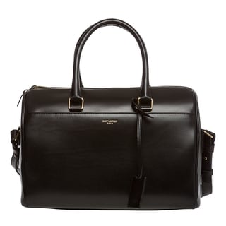 Saint Laurent Classic Black Leather Duffle Bag