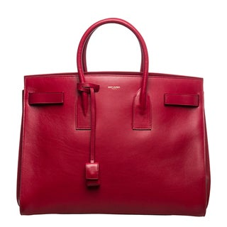 Saint Laurent Classic 'Sac Du Jour' Red Leather Bag