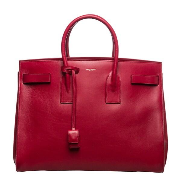 Saint Laurent Classic 'Sac De Jour' Red Leather Bag
